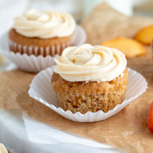 Peach Cupcakes with Buttercream