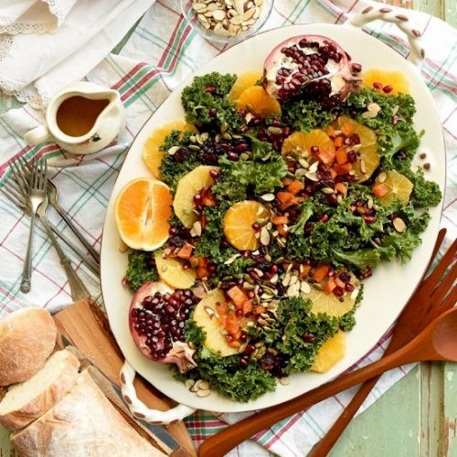 VIDEO: Harvest Blackberry and Butternut Squash Massaged Kale Salad