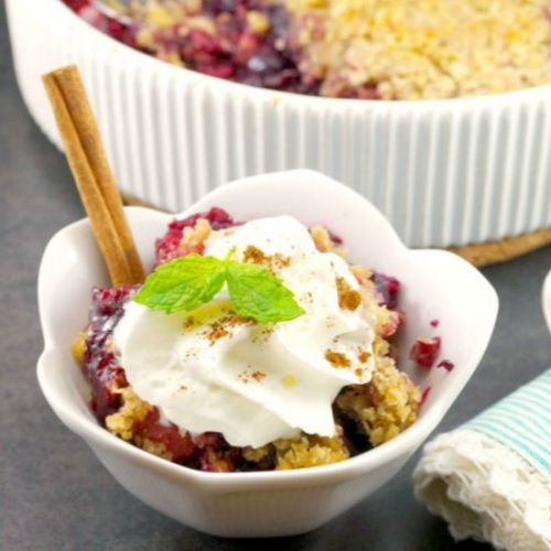 Easy Triple Berry Crumble