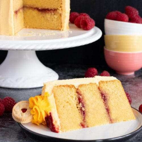 Jam and Custard Layer Cake