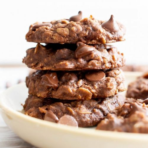 Double Choco Chewy Oatmeal Cookies