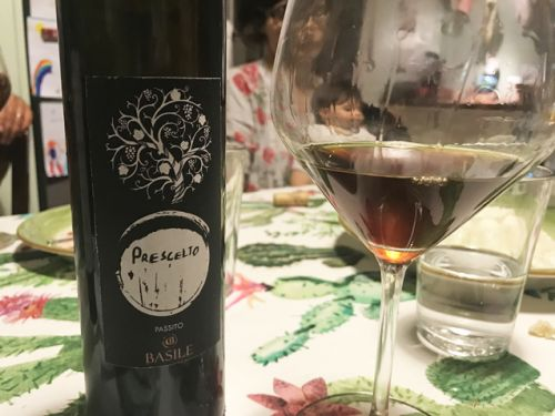 Passito di Pantelleria by Basile, one of the best I've ever tasted
