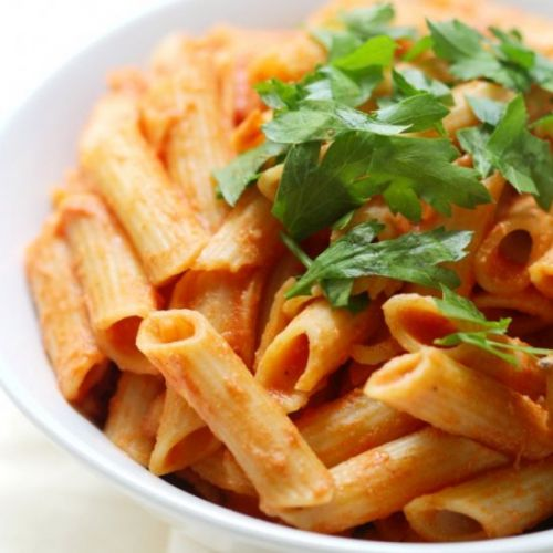 Lightened Up GF/V Penne alla Vodka