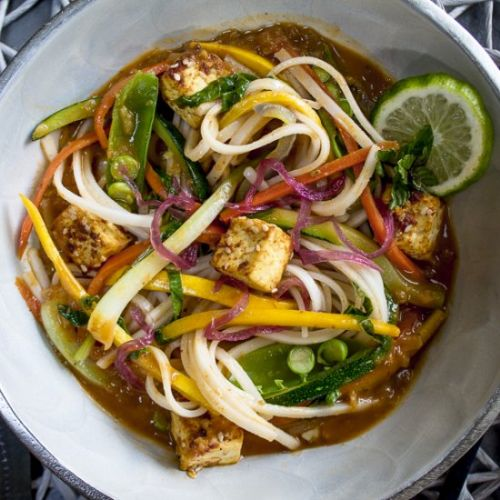 Coconut Curry Noodles with Tofu
