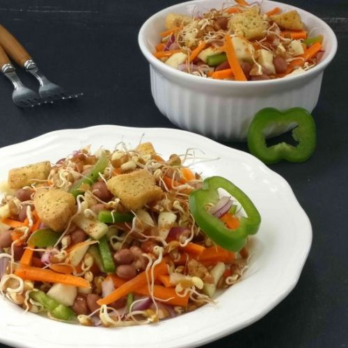 Horse Gram Sprouts Vegetable Salad