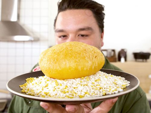 Watch: The Giant Sticky Rice Ball That's a Viral Vietnamese Street Food