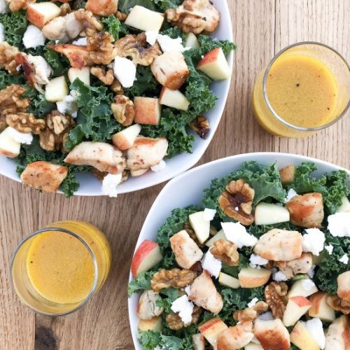 Kale Apple Salad & Honey Dressing