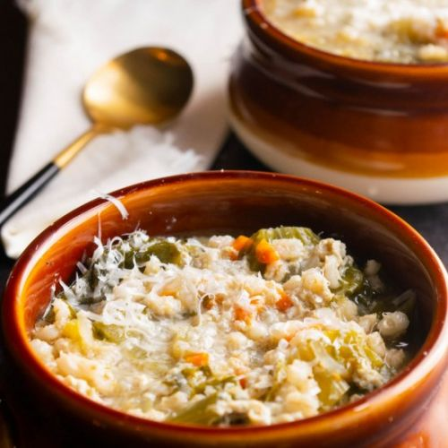 Escarole Soup with Barley and Parme