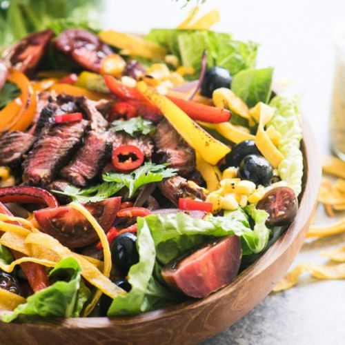 Mexican Fajita Steak Salad