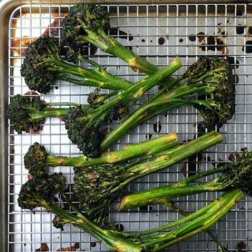 Oven-Grilled Balsamic Broccolini