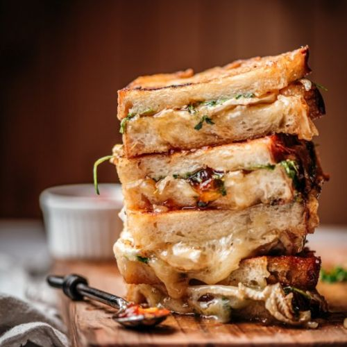 Brie & Passion Fruit Grilled Cheese