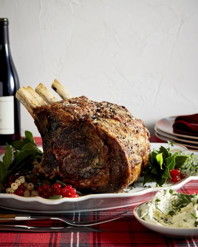 Prime Rib with Whipped Herb Butter