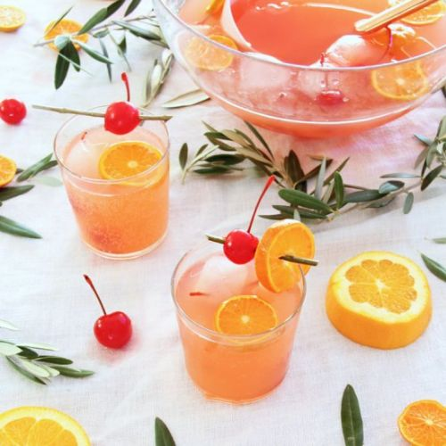 Cherry 7up spiked punch
