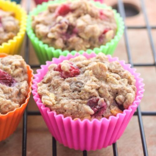 Healthy Cranberry Oatmeal Muffins