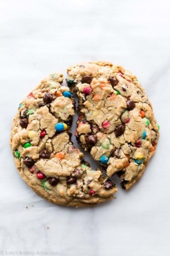 One Giant Monster M&M Cookie