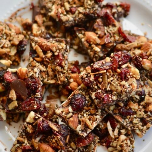 Cranberry Granola Chocolate Bark