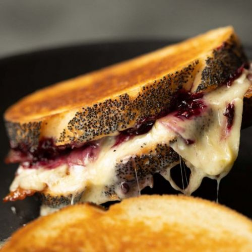 Brie & Blackberry Grilled Cheese