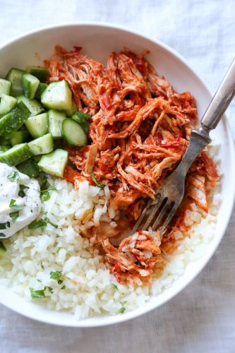 Easy Shredded Harrisa Chicken
