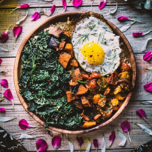 Savoury Breakfast Bowl with Egg