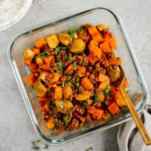 Ground Beef Butternut Squash Meal
