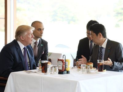 Trump Sticks to His All-American Diet on Visit to Japan