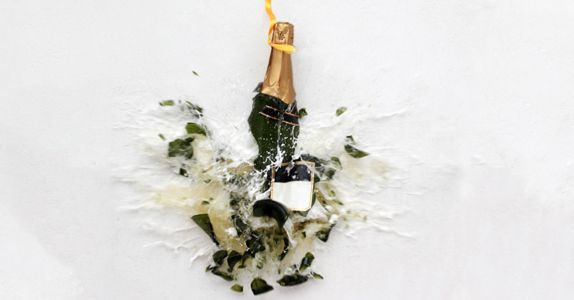 Why We 'Christen' Ships by Smashing Bottles of Champagne Against Their Hulls