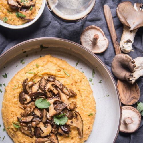 Chipotle Pale Ale Polenta Mushrooms