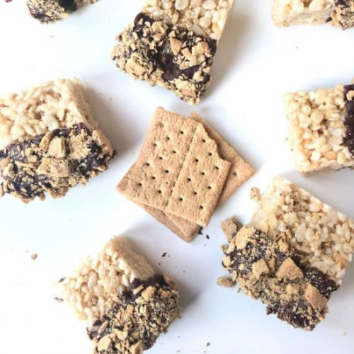 S'mores Dipped Rice Krispie Treats