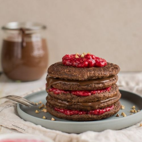 Chocolaty Vegan Sourdough Pancakes