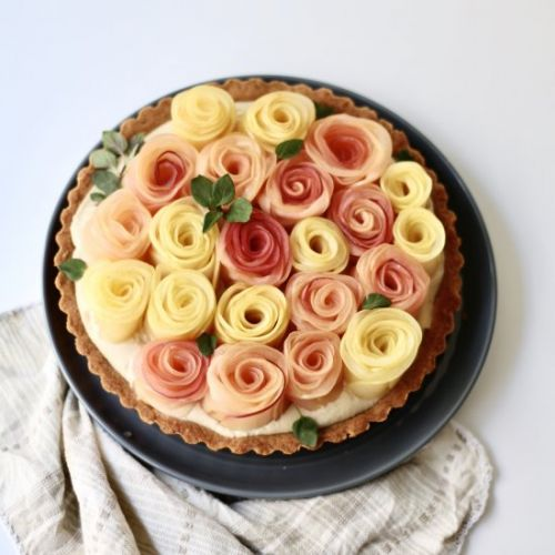 Apple Rose Custard Tart