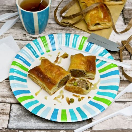 Veal and pistachio sausage rolls