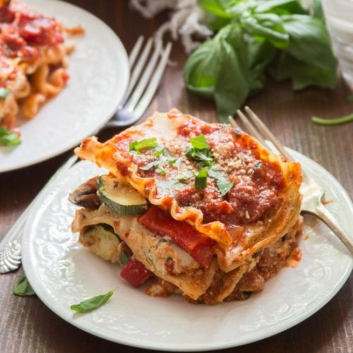 Vegan Roasted Vegetable Lasagna