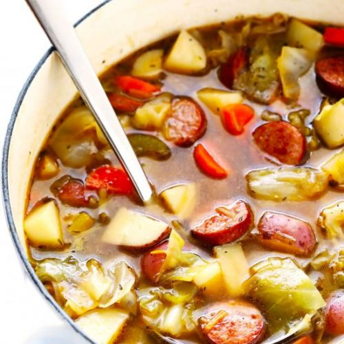 Cabbage, Sausage, and Potato Soup