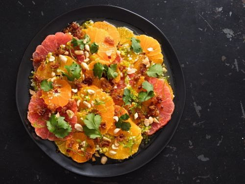 Citrus Salad With XO Sauce and Meyer Lemon Dressing