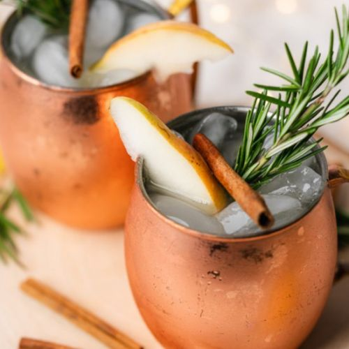 Keto Spiced Pear Moscow Mule