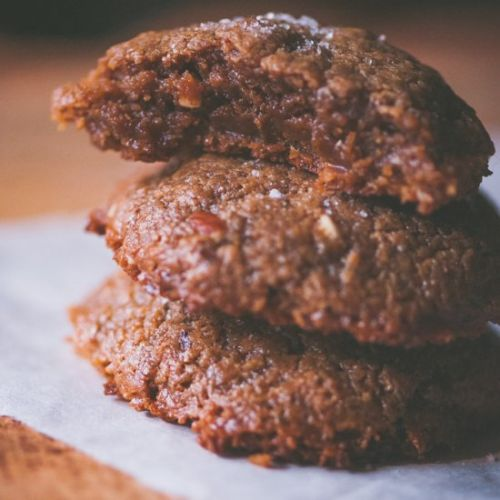 Salted Ginger Almond Butter Cookies