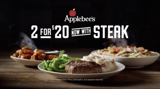 Applebee's Conquers Cravings by Bringing Steak Back to Its Signature 2 for $20 Menu for a Limited Time