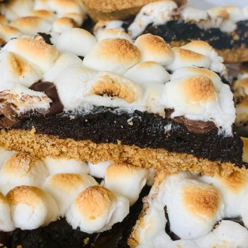Healthy Peanut Butter S'more Bars