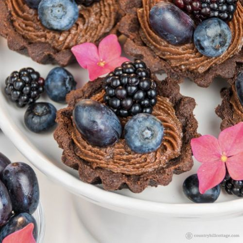 Chocolate Tartlets with Berries and