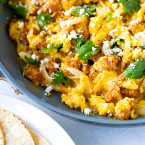 Chorizo and Eggs Breakfast Skillet