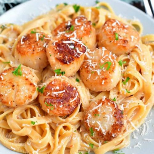 Scallop Recipe with Cream Sauce
