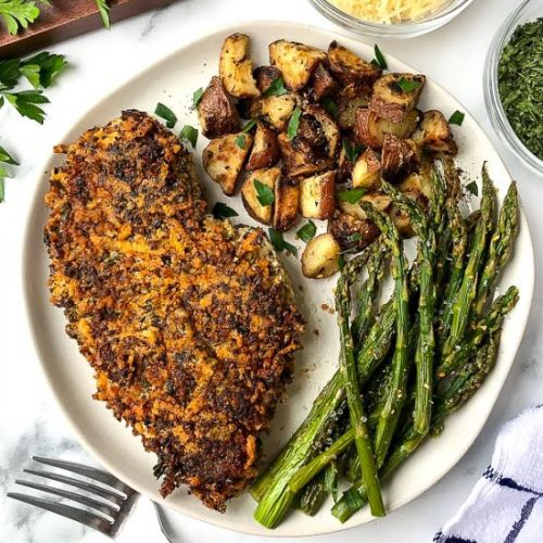 Parmesan and Herb Crusted Chicken