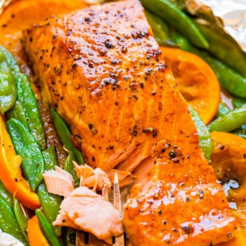 Foil Pack Orange Molasses Salmon