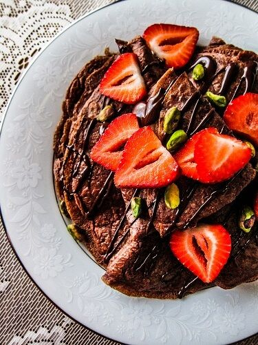 Vegan Chocolate Crepes