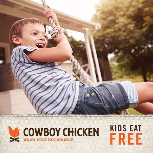 Kids Eat Free Every Monday at Cowboy Chicken