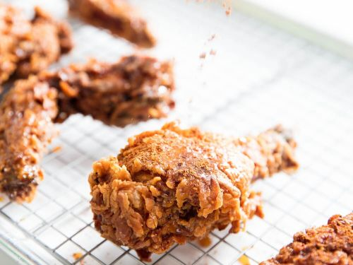Extra-Crispy Fried Chicken With Caramelized Honey and Spice