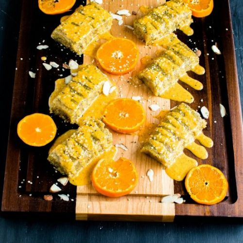 No Bake Orange Protein Bars