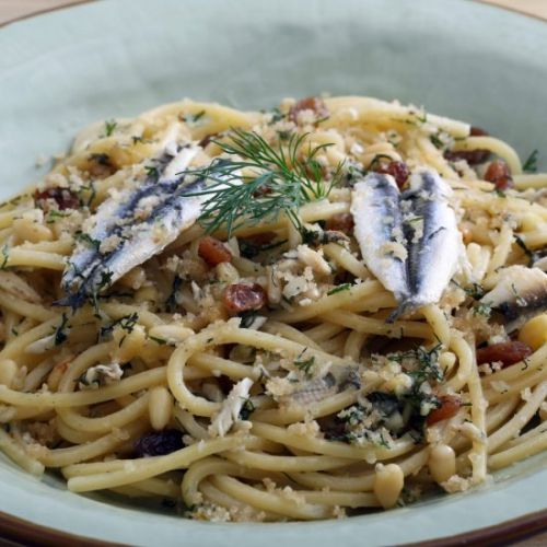 Pasta with Sardines and wild Fennel