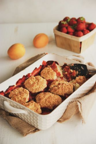 Strawberry-Apricot Cobbler