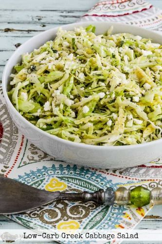 Low-Carb Greek Cabbage Salad